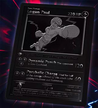 Carte Pokemon caricaturale de Logan Paul vendu en nft